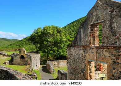 Ruins of the Annaberg Sugar Cane Plantation in the St. John, US Virgin Islands National Park