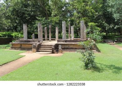 Ruins at Anuradhapura, Sri Lanka