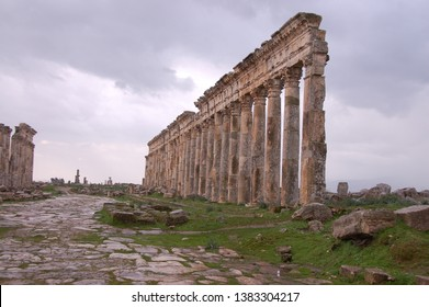 The ruins of Apamea in Syria