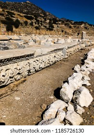 Ruins and archaeological site of Knidos, city of ancient greece