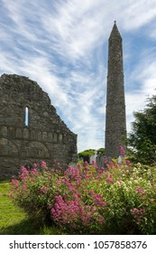 Ruins of Ardmore Cathedral and round tower, County Waterford in the Republic of Ireland.
