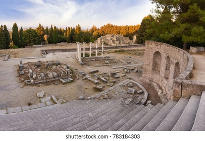 The ruins of Asclepeion in Kos island, Dodecanese, Greece, a temple dedicated to Asclepius, the god of Medicine