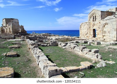 Ruins of Ayios Philion church in North Cyprus