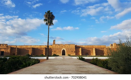 ruins of Badi Palace, Marrakech, Morocco.