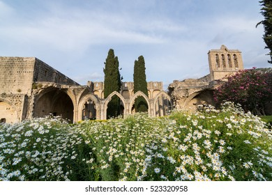 Ruins of Bellapais monastery in Kyrenia, Northern Cyprus