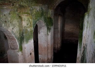 Ruins of Berat castle in Albania