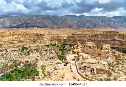 Ruins of a Berber house at Ghoufi Canyon in Algeria, North Africa