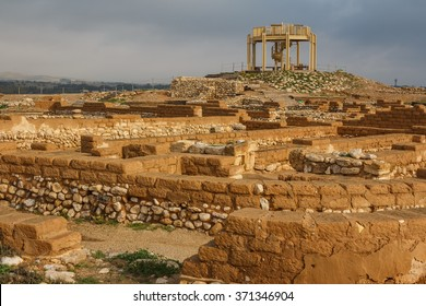 Ruins of the biblical city of Beersheba, Tel Be'er Sheva, Israel