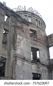 Ruins of the A bomb or Genbaku dome, Hiroshima, Japan, part of the Hiroshima Peace Memorial, and one of the few buildings left standing after the detonation of the atomic bomb by the Allies