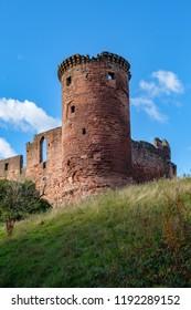 The ruins of Bothwell Castle, Lanarkshire, Scotland, UK