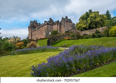 Ruins of the Brodick Castle on the Isle of Arran  in the Firth of Clyde, Scotland.