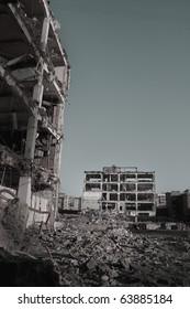 Ruins of buildings