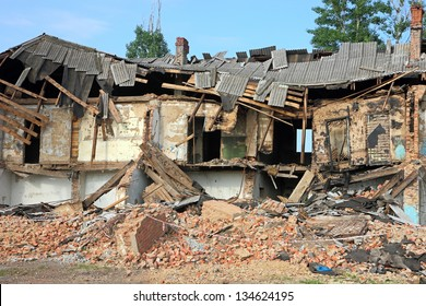 Ruins, can be used as demolition, earthquake, bomb, terrorist attack or natural disaster concept.