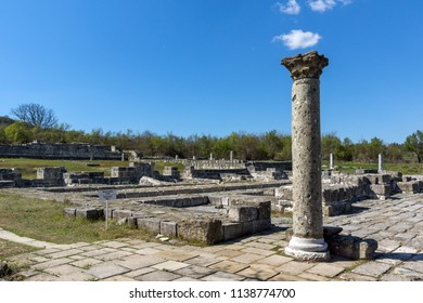 Ruins of The capital city of the First  Bulgarian Empire medieval stronghold Great Preslav (Veliki Preslav), Shumen Region, Bulgaria