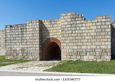 Ruins of The capital of the First  Bulgarian Empire medieval stronghold Pliska, Shumen Region, Bulgaria