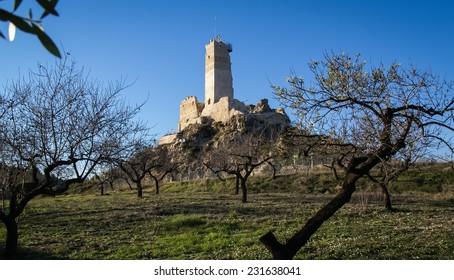 Ruins of the castle at Beniloba, Valencia y Murcia, Spain
