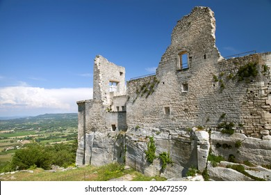 Ruins of the castle of Lacoste, Provence, France