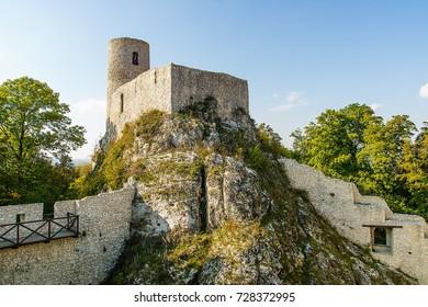 Ruins of castle Pilcza in Smolen (Poland)