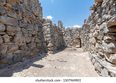 Ruins of Castle Qazr Al-Azraq - one of the Jordan desert castles. Used by Lawrence of Arabia as a base during the Arab Revolt.