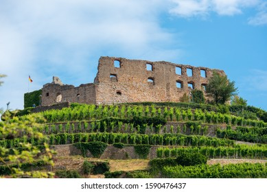 The ruins of the castle in Staufen im Breisgau, Germany.