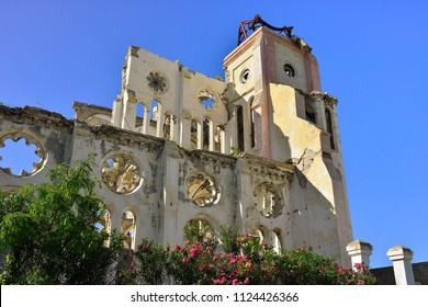 Ruins of the cathedral  in the city Port au Prince, Haiti