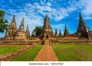 The ruins of Chaiwattanaram temple in Ayuttaya, Thailand