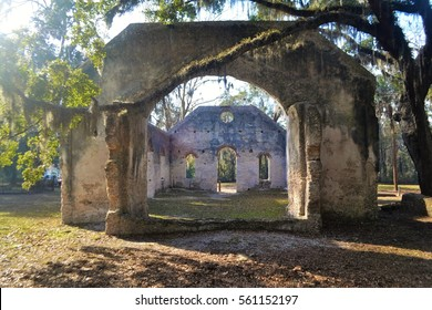 Ruins of the Chapel of Ease on St. Helena Island near Beaufort South Carolina