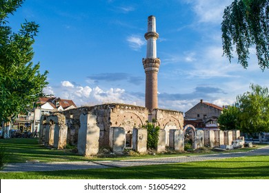 Ruins of Charshi Mosque in the city of Prilep, Macedonia