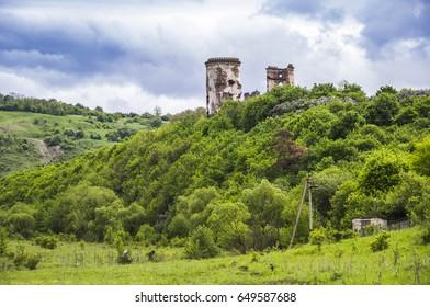 ruins of Chervonohorod Castle, Ternopil region of western Ukraine