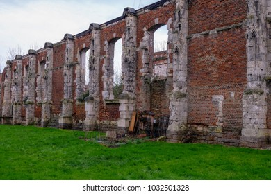 Ruins of a Church, eastern of the Amiens city, France