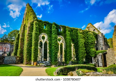 Ruins of the Cistercian Abbey of Villers, Villers-la-Ville, Walloon Brabant, Wallonia, Belgium
