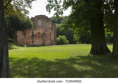 Ruins of the cistercian monastery in Boitzenburg, Germany