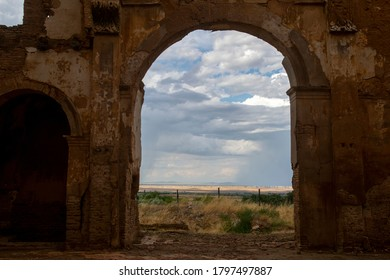 The ruins of city of Belchite that was destroyed during the Spanish Civil War