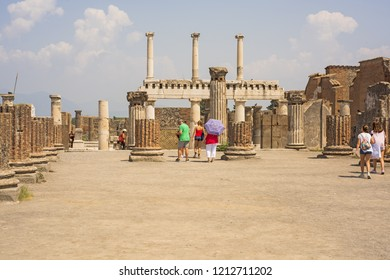 The ruins of the city of Pompeii. Italy. 2018.08.