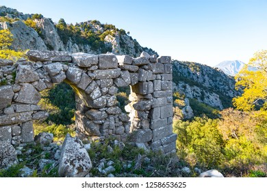 The ruins of the city of Termessos are perched on a high plateau, lying on the western slopes of Gulluk Mountain within the national park that is situated to the northwest of Antalya.