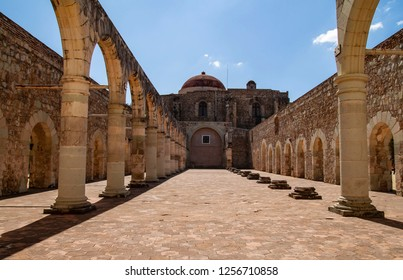 The ruins of a convent in Oaxaca, Mexico