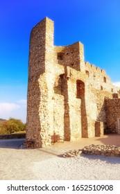 Ruins of Devin castle near city Bratislava, Slovakia. Devin castle is one of the oldest castles in Slovakia