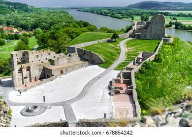 Ruins of Devin castle near city Bratislava, Slovakia