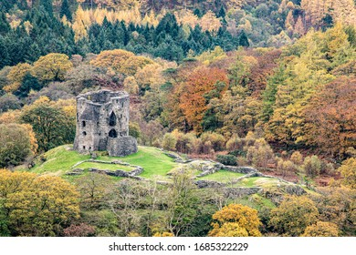 Ruins of Dolbadarn Castle in Snowdonia