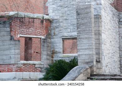 Ruins of Dungeness,  on Cumberland Island, South East Georgia, USA, a tourist destination,