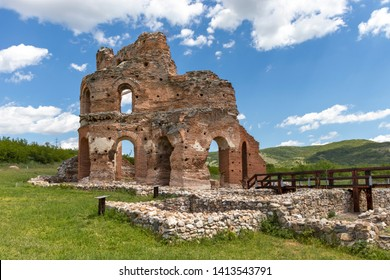 Ruins of early Byzantine Christian basilica know as The Red Church near town of Perushtitsa, Plovdiv Region, Bulgaria