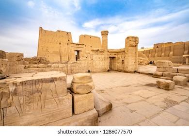 Ruins of Edfu Temple of Horus in Idfu Egypt
