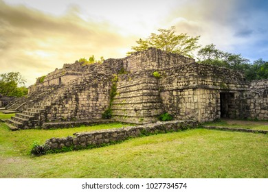 Ruins of Ek Balam ancient Mayan city in Mexico.