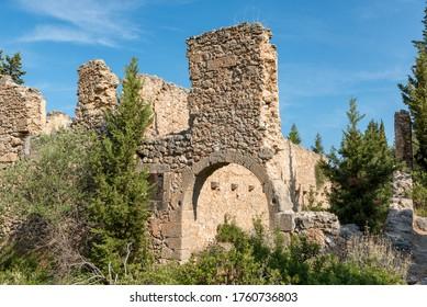 Ruins of Fiscardo Kefalonia Greece view