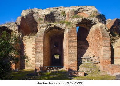Ruins of the Flavian Amphitheater in Pozzuoli. Is the third largest Roman amphitheater in Italy.
