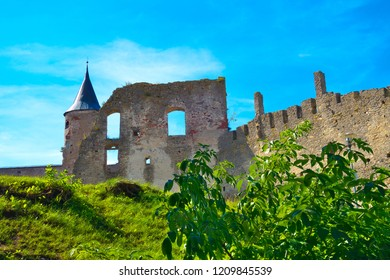 Ruins of former bishop´s castle from 13th century in Haapsalu Old Town, Estonia.