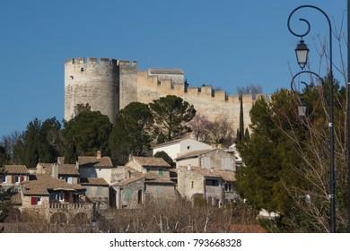 Ruins of fort Saint-Andre in Villeneuve-lès-Avignon town, France