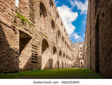 Ruins of a fortified building in Borgholm, Sweden.