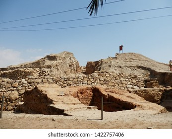 Ruins and fragments of the oldest part of the city. Jericho, Palestinian Autonomy, Israel.