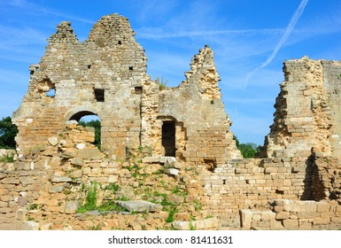 Ruins of a french castle in Brittany